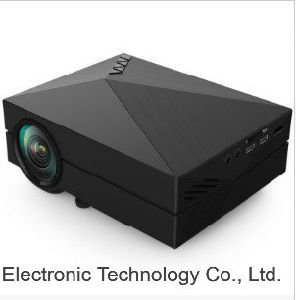 Projector for GM60 Mini HD LED Projector Portable Multimedia Player Support HDMI VGA SD Card - Black pictures & photos