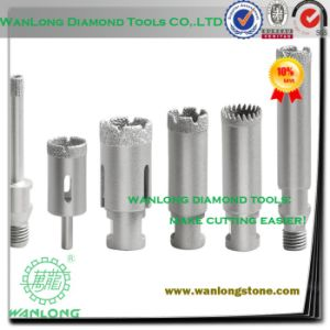 Vacuum Laser Diamond Wet Drill Bit for Stone Tile Concrete Processing, Glass Drilling Tools pictures & photos