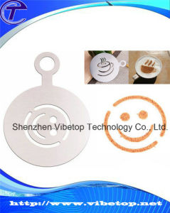 Cheap Food Grade Delicate Metal Cappuccino Coffee Stencil pictures & photos