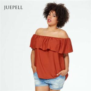 Plus Size off Shoulder Women Chiffon Blouse pictures & photos