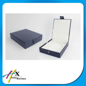 Blue Leather Cover Cardboard Box for Peal Jewelry Packaging pictures & photos