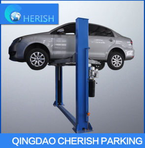Hydraulic for Low Space Two Posts Dual-Cylinder Floor Car Lift pictures & photos