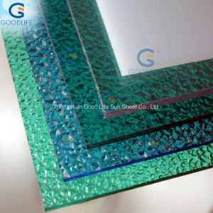 Anti-Static Green Three Wall Polycarbonate Panel for Home pictures & photos