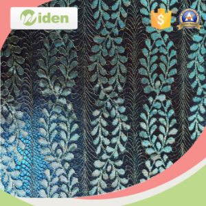 Embroidered Fabric Wholesale Fabric in Bulk Green Lace Fabric pictures & photos