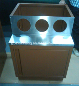 Kitchen Cabinet with Metal (HS-054) pictures & photos