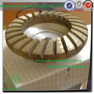 "5"" Diamond Brazed Flat Cup Wheel for Stone Slab Grinding, Stone Grinding Tools pictures & photos"