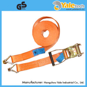 Polyester Retractable Ratchet Tie Down Buckle Strap for Cargo Lashing pictures & photos