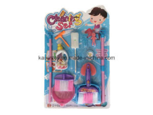 Funny Design Plastic Toys of Children Cleaning Set pictures & photos