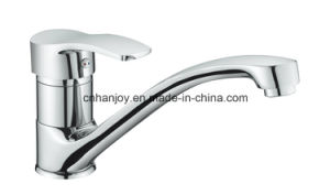 Hot Sale Deck Mounted Single Handle Sink Kitchen Mixer (H01-111) pictures & photos
