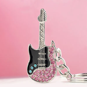 Fashion Gifts Keychain / Musical Instrument Keyring / Metal Guitar Keychain pictures & photos