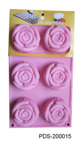 6 Shells 100% Silicone Bakeware Cake Mold-Flowers