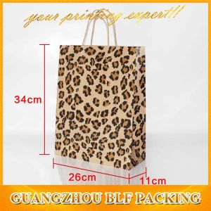 Cheap Recycle Brown Kraft Paper Bags (BLF-PB054) pictures & photos