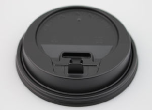 Black Plastic Lid for Hot Paper Cups pictures & photos