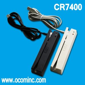 Cr7400 Triple-Track Magnetic Smart Stripe Chip Card Reader pictures & photos