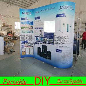 DIY Portable Reusable Exhibition Modular Display with PVC Shelves pictures & photos