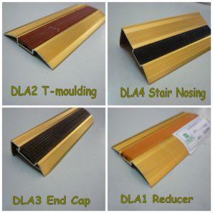 Dla Rubber Sandy-Golden Flooring Profiles Aluminum for 1-30mm Flooring pictures & photos
