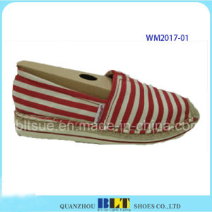 Women Hemp Rope Rubber Casual Shoes with Lace pictures & photos