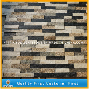 Natural Yellow/Rusty/White/Black Roofing Stone Veneer Wall Panel Quartzite Slate pictures & photos