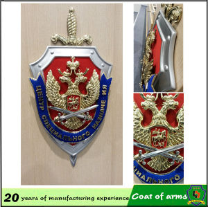 Metal Shield Shape Emblem with Your Design pictures & photos
