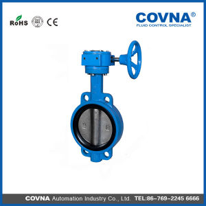 Cast Iron Manual Butterfly Valve with Hand Wheel pictures & photos