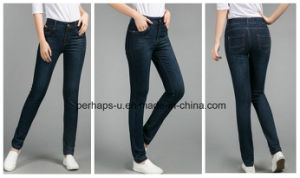 Promotion Women Clothes Korean Version Fashion Denim Jeans pictures & photos