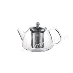 900ml Promotional Wholesale High Borosilicate Heat Resistant Transparent Glass Teapot with Stainless Steel Infuser pictures & photos