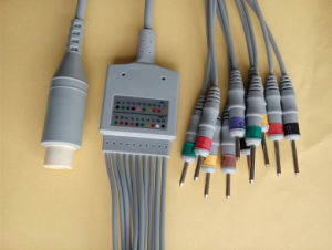 Nec 15pin IEC DIN3.0 EKG/ECG Cable pictures & photos