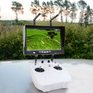 5.8GHz 7 Inch Portable Wireless HD DVR Dual Receiver Fpv Monitor pictures & photos