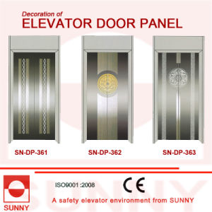 Concave Green Stainless Steel Door Panel for Elevator Cabin Decoration (SN-DP-366) pictures & photos