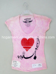 Kids Wear, Cotton Lovely Pink Shirt for Girl pictures & photos
