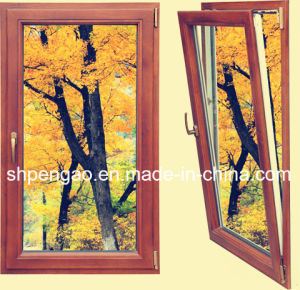 Fashionable Mansion Wood-Grain Window Aluminum Profile