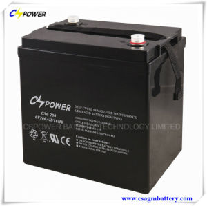 6V200ah Deep Cycle Lead Acid Battery for Solar Storage pictures & photos