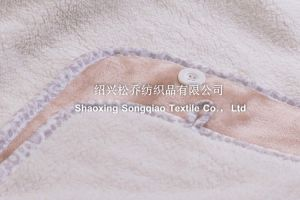 Coral Fleece with Shu Velveteen Blanket / Sherpa Fleece Throw - Khaki pictures & photos