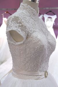 Chinese Design Floor Length Real Pictures Wedding Dress pictures & photos