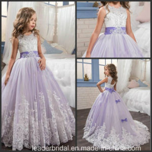 Lace Girls Formal Gown Purple Wedding Flower Girl Dress F20158 pictures & photos
