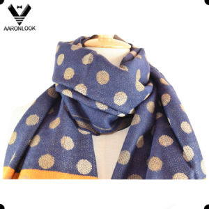 2017 New Colorway Acrylic Woven Jacquard Polka DOT Scarf pictures & photos