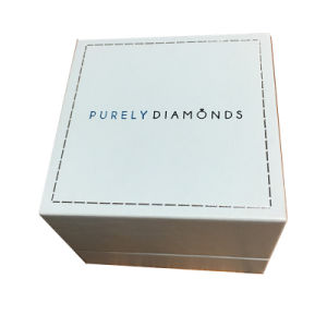 Foil Silver Printed Folding Styled Promotional Jewelry Gift Box pictures & photos