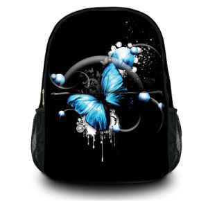 Customizable Black Canvas Backpack School Bag for Girls & Boys pictures & photos