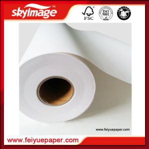 Newly Economy 17inch Fu-70GSM Non-Curl Sublimation Paper Jumbo Roll with OEM Accept pictures & photos