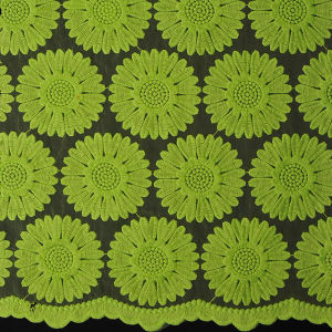 New Polyester Organza Lace Fabric pictures & photos