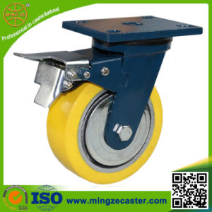 Total Brake Heavy Duty Swivel PU Trolley Wheel pictures & photos