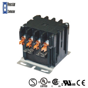 AC 24V Household 30A Magnetic 4 Poles Electrical Contactor pictures & photos
