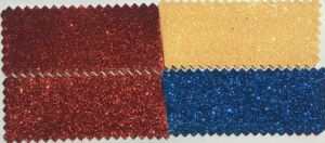 Glitter PU Leather Fabric for Ladies Shoes Hw-1410 pictures & photos