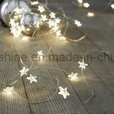 Star Shaped Battery Operated Copper Fairy Light String with Timer pictures & photos