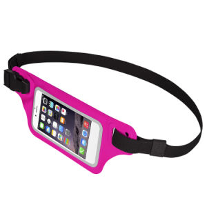 Ultrathin Elastic Reflective Lycra Waist Belt Pouch with Fingerprint Unlock pictures & photos