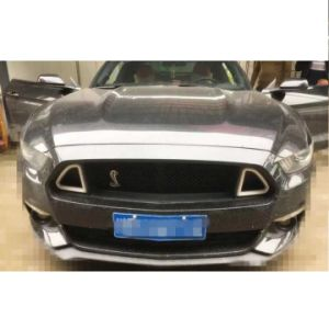 Lantsun F001 15-17 for Ford Mustang DRL LED Front Grille Hood Bumper Mesh Grill pictures & photos
