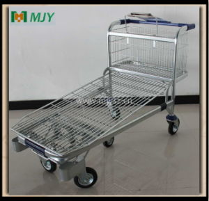 Shopping Trolley Construction Store 5 Wheels Mjy-M11 pictures & photos