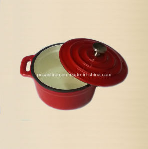 10cm Cast Iron Mini Cocotte Pot China Factory pictures & photos