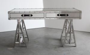 Home Furniture, Adjustable Shiny Stainless Steel Legs Desk, Console Rtk-91 pictures & photos