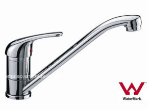 Sanitary Ware Watermark and Wels Approved Single Handle Chrome Brass Kitchen Sink Water Mixer (HDC101) pictures & photos